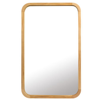 Tina Natural Wooden Wall Mirror Rectangle (80CM and 95CM)