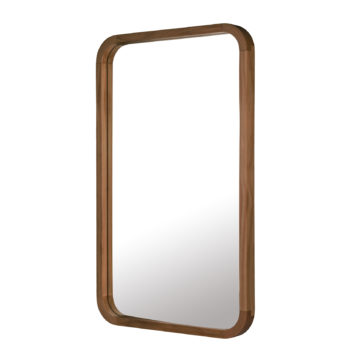 Tina Dark Wooden Wall Mirror Rectangle (80CM and 95CM)