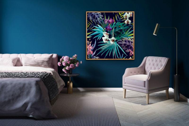 Days Of Summer - Tropical Palm Canvas Wall Art Print