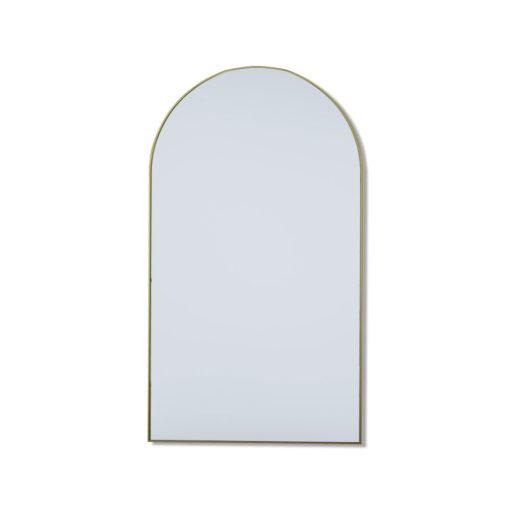 Mega Arch Satin Brass Leaner Mirror - 210cm x 120cm
