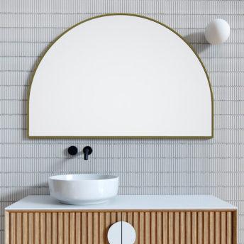 Arch Mirror Satin Brass - 80cm x 120cm