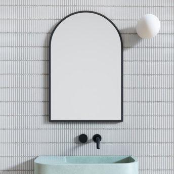Arch Mirror Black - 76cm x 50cm