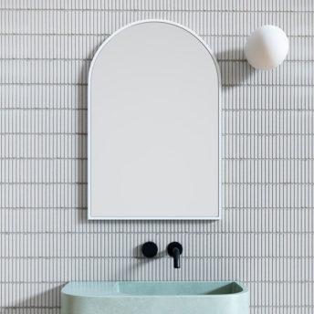 Arch Mirror White - 76cm x 50cm