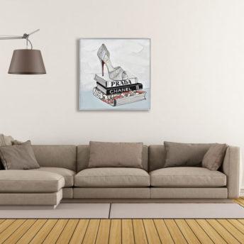 Charismatic Shoe Wall Art Canvas 80 cm X 80 cm