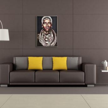 Tribal Aaliyah Wall Art Canvas 80 cm X 120 cm