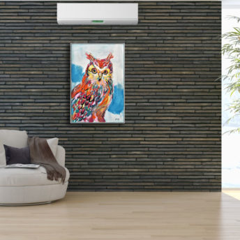 Abstract Owl Wall Art Canvas 60 cm X 90 cm