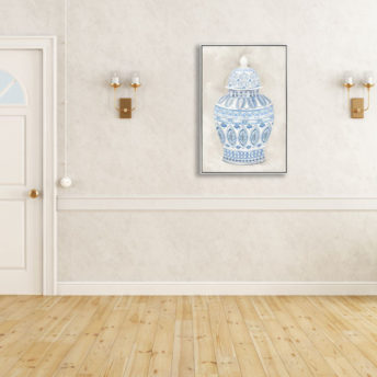 Gorgie Ginger Jar Wall Art Canvas 60 cm X 90 cm