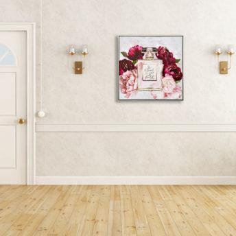 She Believed Perfume Wall Art Canvas 80 cm X 80 cm