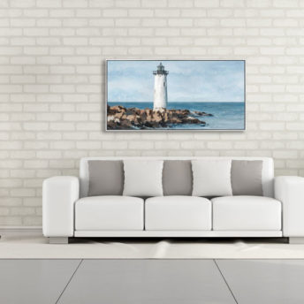 Coastal Light Tower Wall Art Canvas 120 cm X 60 cm