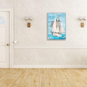 Nautical Spirit Vessel Wall Art Canvas 82.5 cm X 123 cm