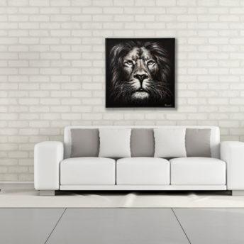 Majestic Lion Portrait Wall Art Canvas 103 cm X 103 cm