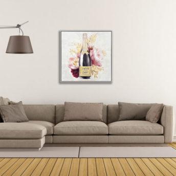 Champion Champagne A Wall Art Canvas 80 cm X 80 cm