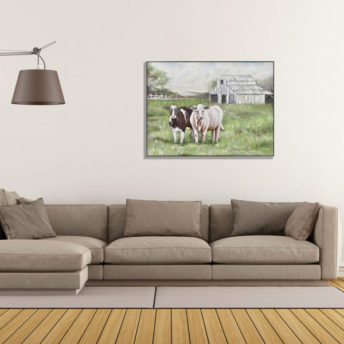 Cows in Farm Wall Art Canvas 128 cm X 98 cm