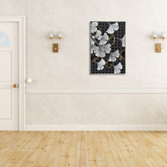 Falling Frosted Leaves Wall Art Canvas 80 cm X 120 cm