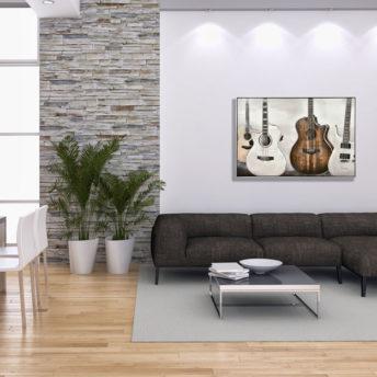 Orchestra of Guitars Wall Art Canvas 120 cm X 80 cm