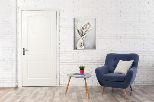 Lady Angel Wall Art Canvas 80 cm X 120 cm