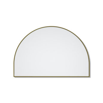 Arch Mirror Satin Brass - 80cm x 120cm