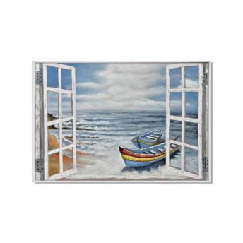 Holiday on the Beach Wall Art Canvas 120 cm X 80 cm