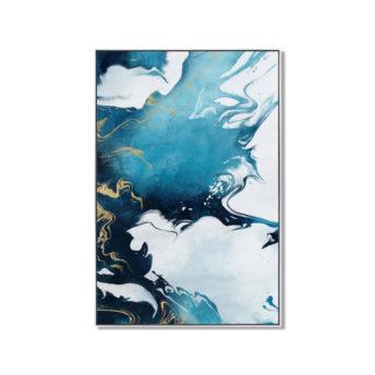 Blue Shade Water Colour Wall Art Canvas 60 cm X 90 cm
