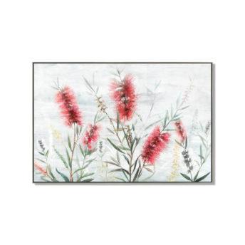 Red Bottlebrushes Wall Art Canvas 120 cm X 80 cm