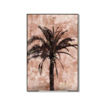 Blushing Palms Wall Art Canvas 80 cm X 120 cm