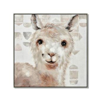 New Zealand Llama Wall Art Canvas 100 cm X 100 cm