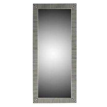 Indi Bone Inlay Floor Mirror - Black