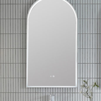 Brushed Nickel Arch 500D LED Mirror