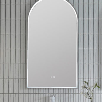 Gun Metal Grey Arch 500D LED Mirror