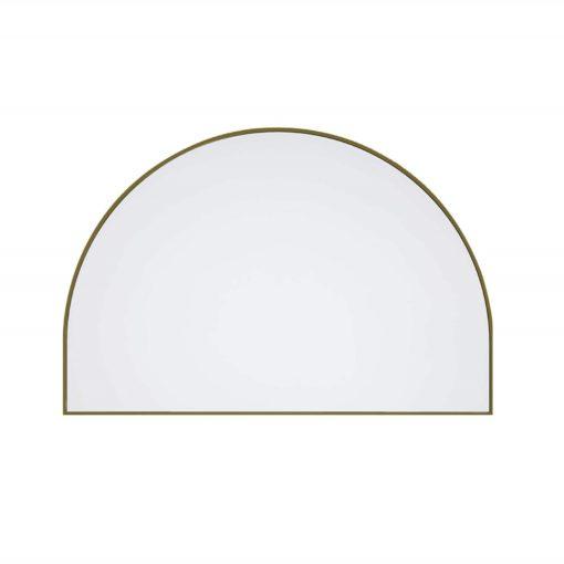 Arch Metal Framed Bathroom Mirror Satin Brass - 100cm x 150cm