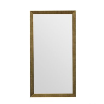 Augusta Antique Gold Floor Mirror