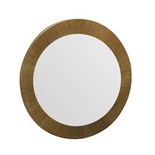Augusta Round Antique Gold Wall Mirror