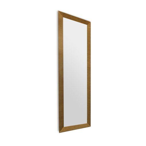 Augusta Slender Antique Gold Floor Mirror