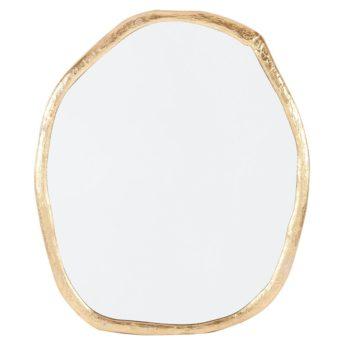 Taz Gold Round Wall Mirror